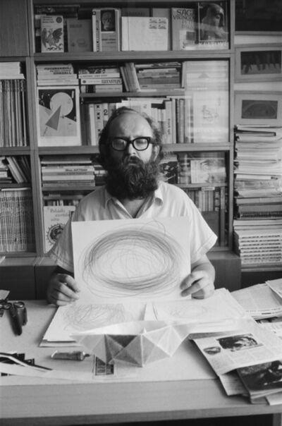 Július Koller, 'Meditacia / Meditation (U.F.O)', 1983