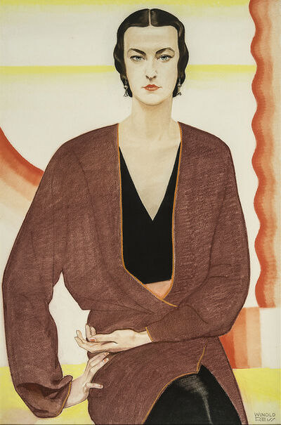 Winold Reiss, 'Portrait of Miss C. Burton—Texas', 1930