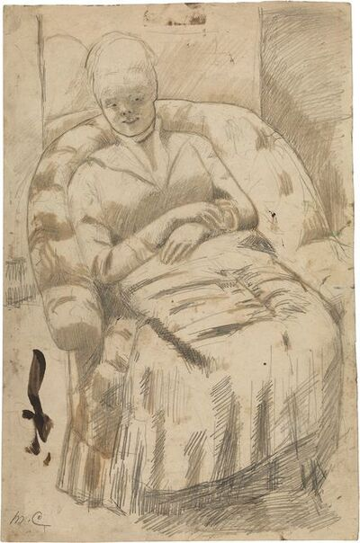 "Mary Cassatt, 'Drawing for ""The Round-Backed Armchair""', ca. 1881"
