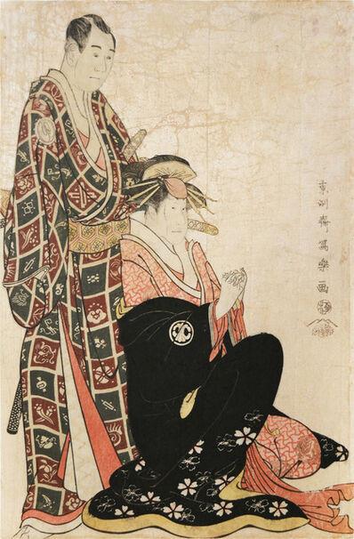Toshusai Sharaku, 'Sawamura Sojuro as Nagoya Sanza and Segawa Kikunojo as Katsuragi', ca. 1794