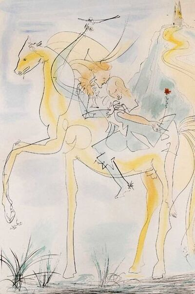 Salvador Dalí, 'Couple à Cheval', 1971