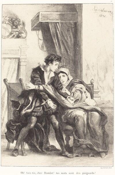 Eugène Delacroix, 'Hamlet and the Queen (Act III, Scene IV)', 1834