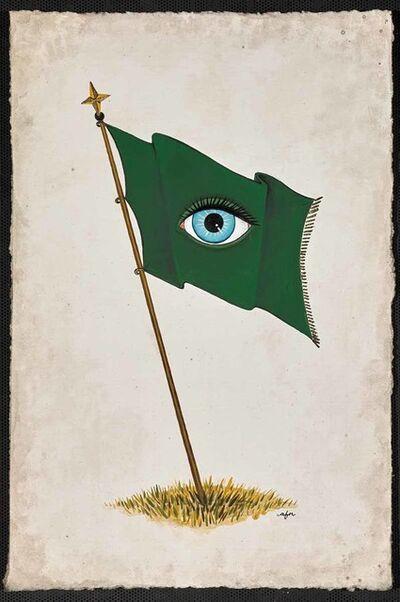Anne Faith Nicholls, 'All-Seeing Flag - Evergreen', 2016