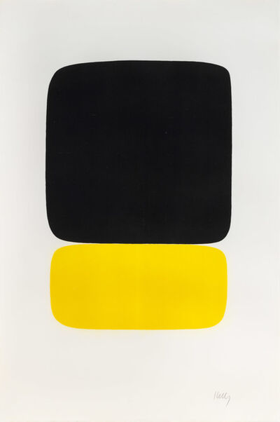 Ellsworth Kelly, 'Black over Yellow', 1964-1965