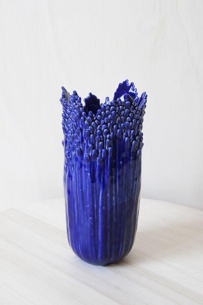 Cécile Bichon, 'Vase ascensionnel floral épanoui bleu de Sèvres ', 2019