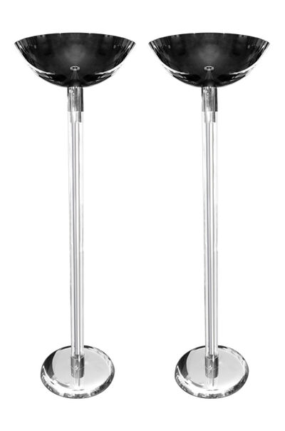 Karl Springer, 'Pair of Lucite and Polished Gunmetal Torchieres by Karl Springer, circa 1970s ', ca. 1970