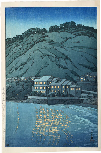 Kawase Hasui, 'Evening in Atami, View from the Abe Inn', 1947