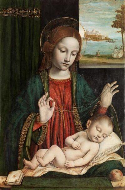 Ambrogio Bergognone, 'Madonna and Sleeping Child (Madonna del velo)', 1512-1515