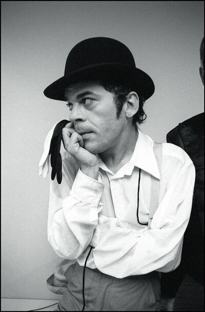 David Corio, 'Ian Dury backstage at Brighton Top Rank, Brighton, UK', 1980