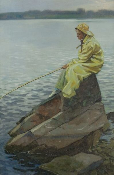 Victor Coleman Anderson, 'Fisherwoman'