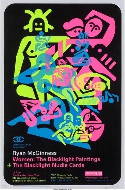 Ryan McGinness, 'Women: The Blacklight Paintings (three exhibition posters)', 2011