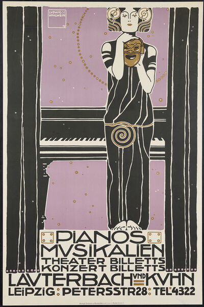 Ludwig Hohlwein, 'Poster for the Lauterbach & Kuhn Music Store, Leipzig', unknown