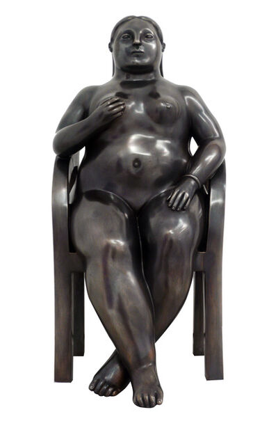 Fernando Botero, 'Mujer en silla', 1995