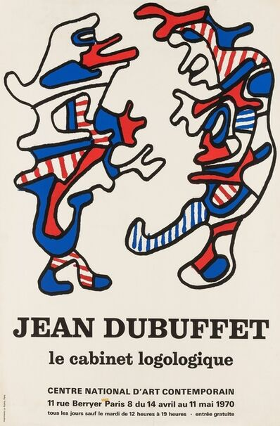 After Jean Dubuffet, 'A poster for Le Cabinet Logologique', 1970