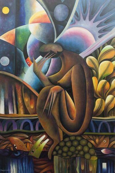 Clemente Segrera, 'Figure in a nocturnal landscape'