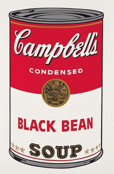 Andy Warhol, 'Black Bean Campbells Soup', 1968