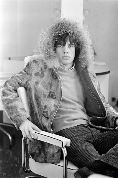 Terry O'Neill, 'Mick Jagger waits in his Dressing Room Before an Appearance on 'Ready Steady Go!', London', 1964
