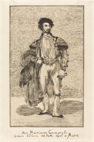 Édouard Manet, 'Don Mariano Camprubi (Le Bailarin)', 1862
