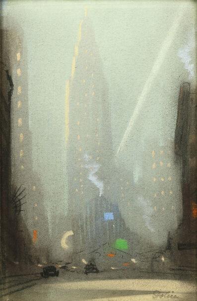 Leon Dolice, 'View of the Chrysler Building, New York, at Night', ca. 1930s