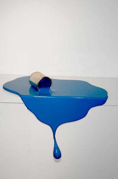 Markus Hofer, 'Fallen lacquer can (blue)', 2018