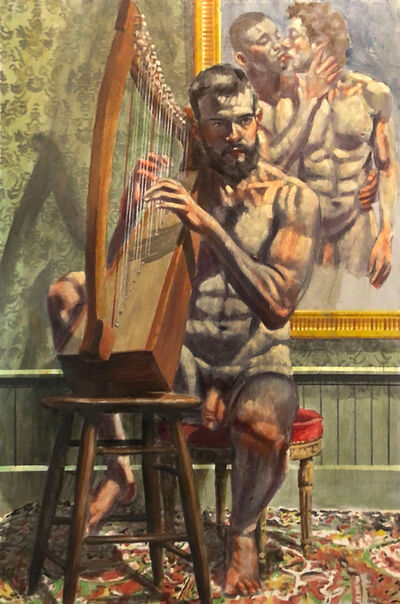 Mark Beard, 'Practicing the Harp', n.d.