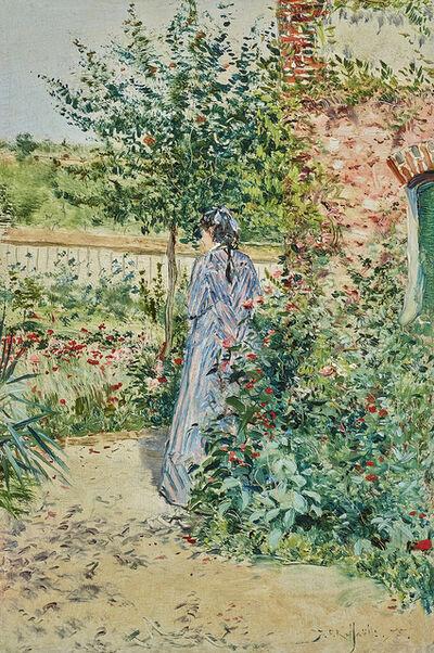 Jean François  Raffaëlli, 'Elégante dans un jardin', 1875