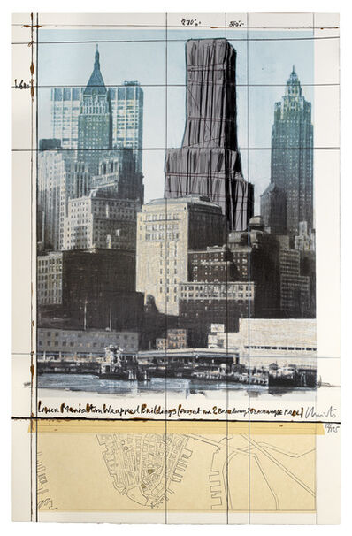 Christo and Jeanne-Claude, 'Lower Manhattan Wrapped Buildings, Project for 2 Broadway, 20 Exchange Place', 1990