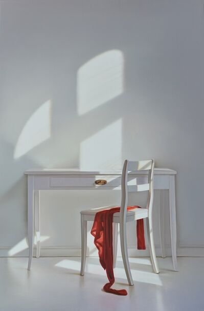 Edite Grinberga, 'Desk with chair and red', 2016