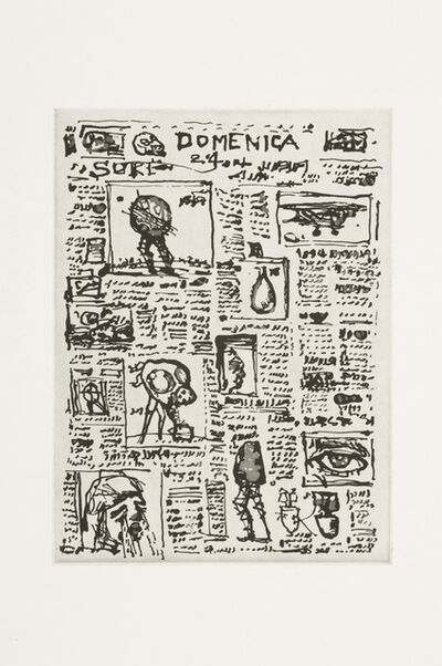William Kentridge, 'Newspaper Unread', 2007