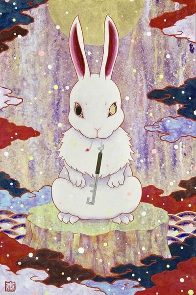 Koki Tsujimoto, 'Auspicious White Rabbit painting: Tsukikagi-zu', 2019