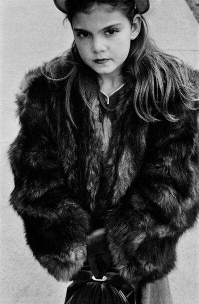 Harold Feinstein, 'Young Girl Wearing Fur Coat, NYC', 1950