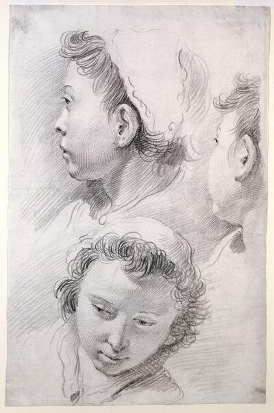 Francesco Salvator Fontebasso, 'Three Studies of the Head of a Youth', 1737
