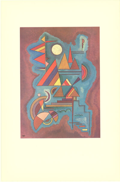 Wassily Kandinsky, 'Cut-out Blue and Red and Yellow', 1990