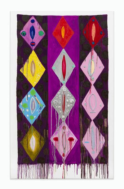 Judy Ledgerwood, 'Violet Hour', 2017