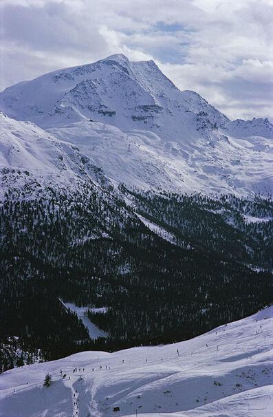 Slim Aarons, 'Ski Slope In St. Moritz ', 1963