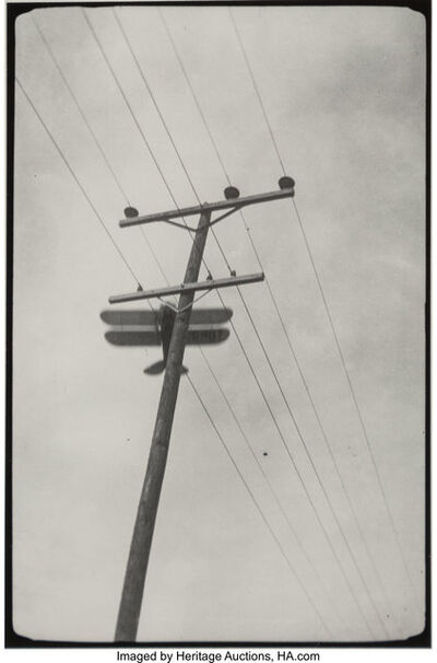 Lou Stoumen, 'Airplane and Telephone Pole, Bethlehem, PA', 1932-printed later