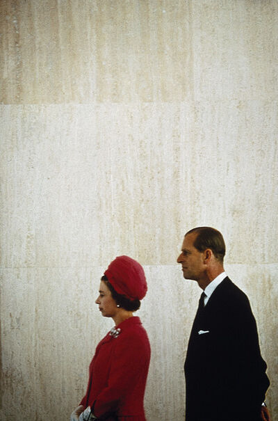 Eve Arnold, 'Queen Elizabeth II, Queen of England, on tour with her husband Prince Philip, Duke of Edinburgh. England, GB', 1968