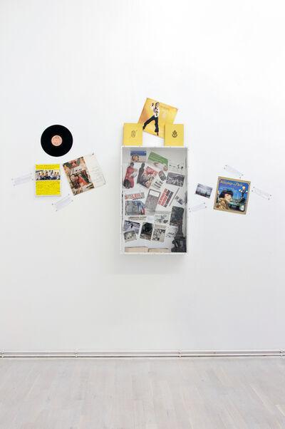 """Georges Adéagbo, '""""Les artistes et l'écriture""""..! ', 2014"""