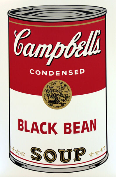 Sunday B. Morning, 'Campbell's Soup Can 11.44 (Black Bean)', 2016