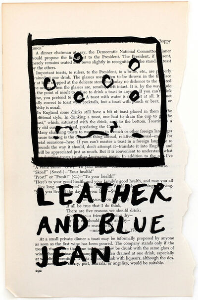 RF Alvarez, 'Leather And Blue Jean', 2015