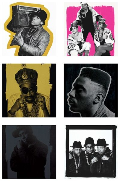 Janette Beckman, 'Legends of Hip Hop LL Cool J, Slick Rick, Run-D.M.C., Big Daddy Kane, Chuck D, Salt 'N Pepa', 2017
