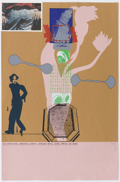 R. B. Kitaj, 'His Every Poor, Defeated, Loser's Hopeless Move, Loser, Buried (Ed Dorn)', 1966