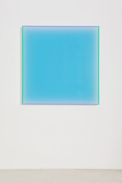 Regine Schumann, 'colormirror satin türkis madrid', 2018