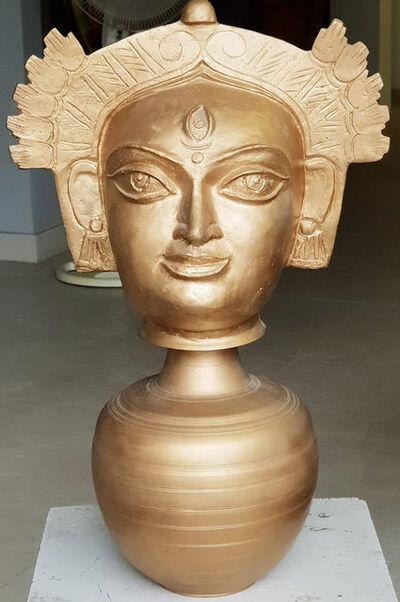 Niranjan Pradhan, 'Devi Durga, Indian Goddess, Brass sculpture by Modern Indian Artist Niranjan Pradhan', 2017