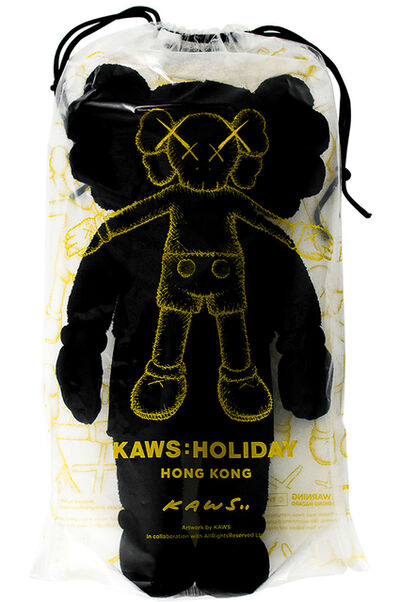 "KAWS, 'HOLIDAY HONG KONG LIMITED 20"" PLUSH (Black)', 2019"