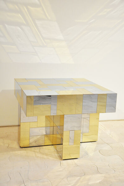 Paul Evans, 'Coffee Table in brass and chrome ', ca. 1975