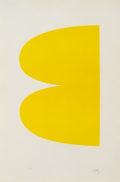 Ellsworth Kelly, 'Yellow (Jaune), from Suite of Twenty-Seven Lithographs, 1964-1965'