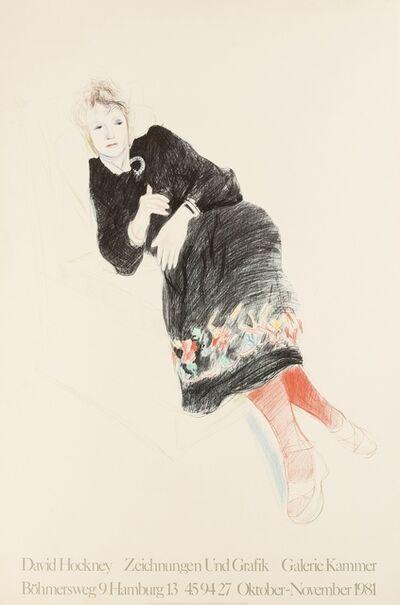 After David Hockney, 'A poster for Zeichnungen und Grafik', 1981
