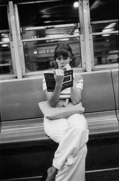 Louis Faurer, 'untitled (reading James Joyce on NY subway)', 1973
