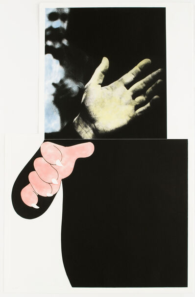 John Baldessari, 'Two Hands (with Distant Figure)', 1989-1990